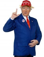Amerikanischer Präsident Herrenkostüm blau-rot