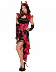 Verführerische Teufelin Halloween-Damenkostüm rot-schwarz