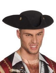 Piraten-Dreispitz Hut für Erwachsene schwarz