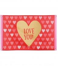 Valentinstag-Banner Love You 60x90cm rot