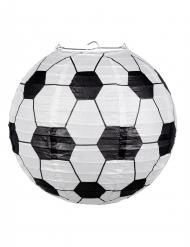 Fußball-Lampion Partydeko schwarz-weiss 25cm