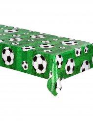 Fußball-Tischdecke Partydeko grün-weiss-schwarz 120 x 180cm