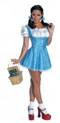 Sexy Dorothy-Kostüm Der Zauberer von Oz™-Lizenzkostüm blau-weiss