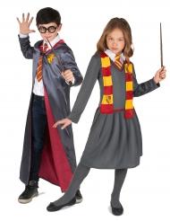 Zauberlehrling Kostüm-Set für Mädchen und Junge grau-gelb-rot