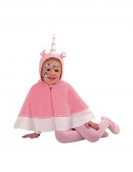 Einhorn-Umhang mit Haube für Mädchen rosa