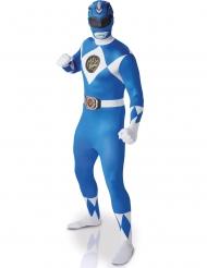 Power Rangers™-Kostüm Superhelden-Lizenzkostüm Second Skin blau