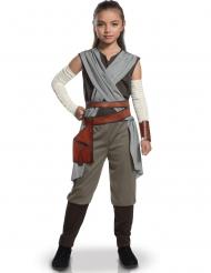 Rey-Kinderkostüm Star Wars VIII™-Lizenzkostüm grau-braun-weiss
