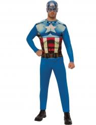 Captain America™-Herrenkostüm Marvel-Superheld blau-rot-weiss