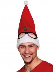 Lustige Weihnachtsmütze Kostümaccessoire rot-weiss