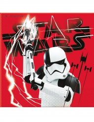 Star Wars: Die letzten Jedi™-Servietten Stormtrooper-Motiv 20 Stück rot-schwarz-weiss 33x33cm