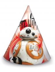 Star Wars: Die letzten Jedi™ Partyhüte BB-8 6 Stück rot-weiss