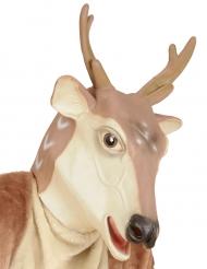 Rentier-Maske Weihnachtsmaske braun-beige