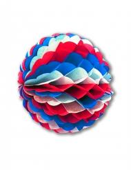 Wabendeko aus feuerfestem Papier rot-weiss-blau 50 cm