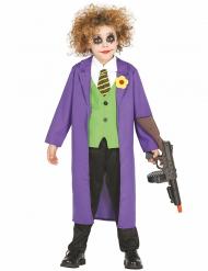 Verrückter Clown Kinderkostüm lila-grün