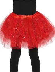 Tutu mit Glitter für Mädchen rot