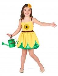 Blumen-Kostüm für Mädchen Sonnenblume gelb-grün