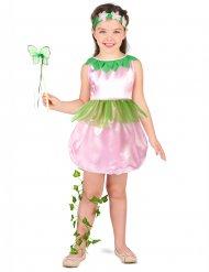 Kleine Blütenfee Märchen-Kinderkostüm rosa-grün