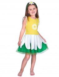 Blumen-Kostüm für Mädchen Margerite gelb-weiss-grün