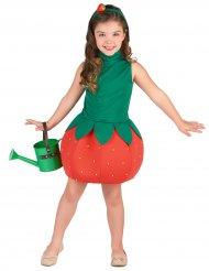Süsses Erdbeerkostüm für Mädchen grün-rot