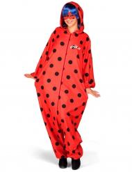 Ladybug™-Overall für Erwachsene Miraculous-Lizenzkostüm rot-schwarz