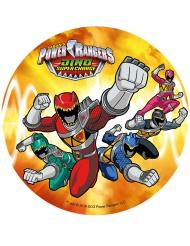 Farbenprächtiger Power Rangers™- Tortenaufleger Lizenzartikel bunt 21cm