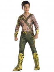 Aquaman™-Kinderkostüm Lizenzkostüm grün-braun-gelb