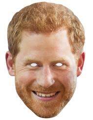 Promi-Maske Prinz-Harry-Pappmaske hautfarben-orange
