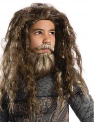 Aquaman™-Perückenset mit Bart für Kinder Lizenzartikel braun