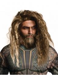 Aquaman™-Perücke und -Bart braun