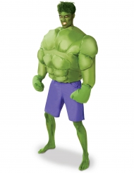 Aufblasbares Hulk™-Lizenzkostüm Superhelden-Muskelanzug grün-lila