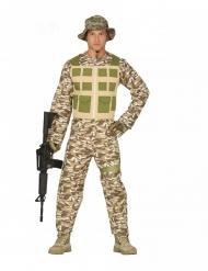 Soldat Kostüm Soldatenkostüm L 52//54 Herrenkostüm Armee Krieger Militär Uniform