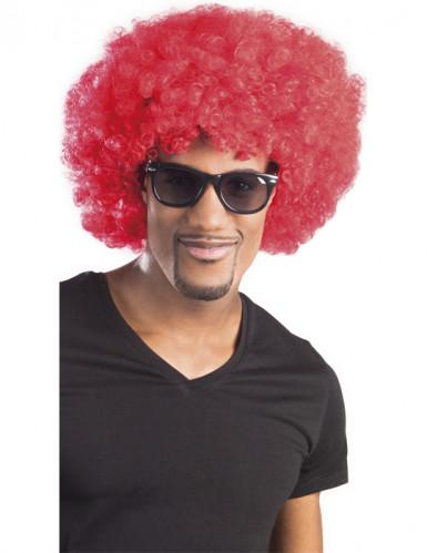 Originelle Afro-Perücke für Erwachsene rot