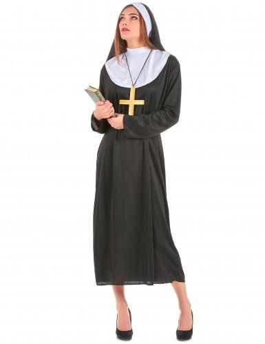 Nonnen-Damenkostüm Schwester schwarz-weiss