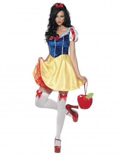 Märchen-Prinzessin Damenkostüm blau-gelb-rot