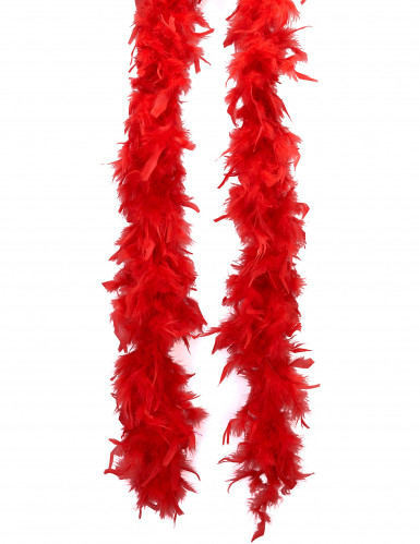Showgirl Federboa Kostüm-Accessoire rot 180cm