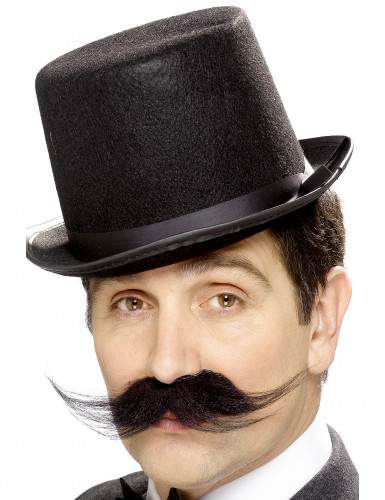 Gentleman Bart Schnurrbart schwarz