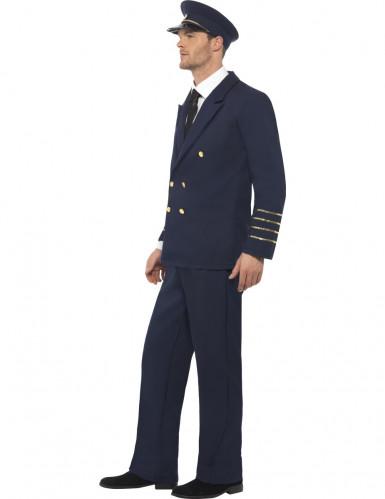 Pilot Karnevalkostüm blau-gold