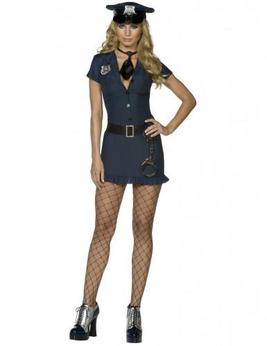 Polizistin Damenkostüm schwarz