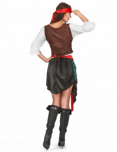 Verruchte Piratin Damenkostüm Freibeuterin Plus Size bunt-2