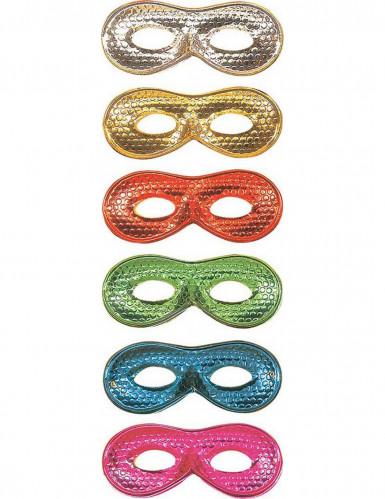 Venezianische Augenmaske glänzend blau