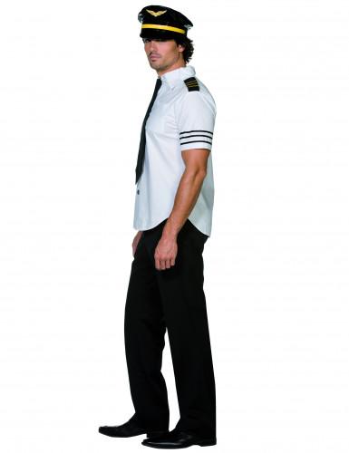 Pilot Kostüm weiss-schwarz-1