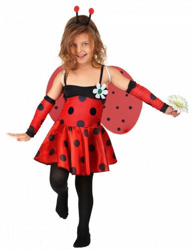Marienkäfer-Mädchenkostüm Käferkostüm rot-schwarz