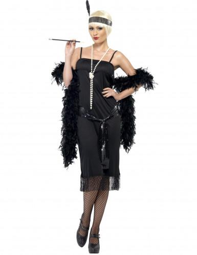 Charleston Can Can Damen-Kostüm schwarz