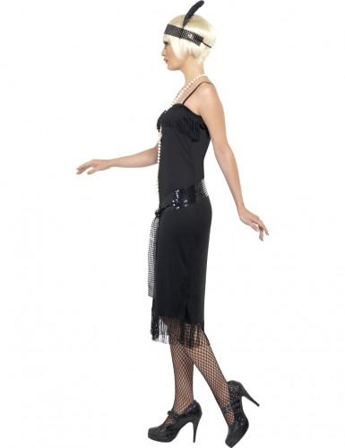 Charleston Can Can Damen-Kostüm schwarz-1