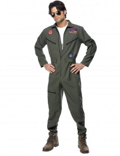 Top Gun™-Kostüm für Herren Jetpilot Kostüm Karneval khaki