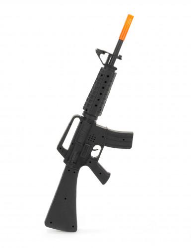 Spielzeug-Sturmgewehr M16 schwarz-orange