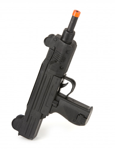 UZI Maschinen-Pistole aus Kunststoff schwarz