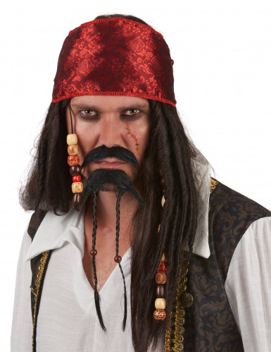 Piraten-Kapitän Bart-Set schwarz-braun