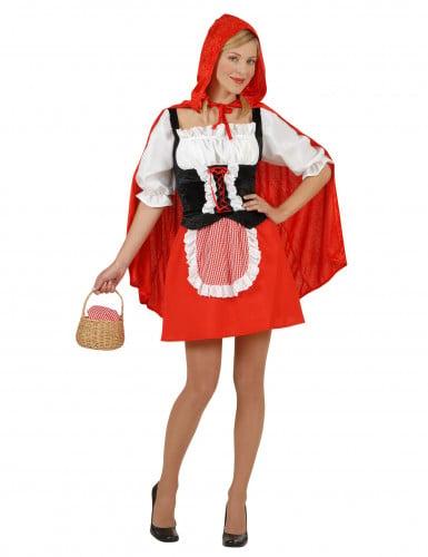 Rotkäppchen Damenkostüm rot-weiß