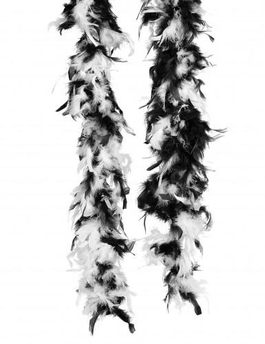 Federboa mit Federspitzen Kostüm-Accessoire weiss-schwarz